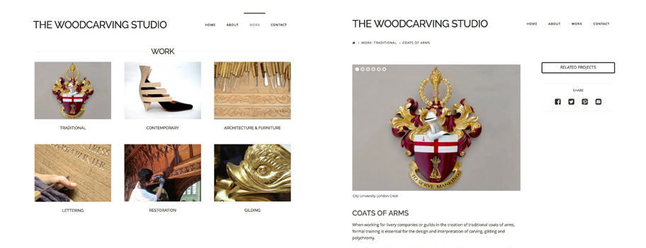 The Woodcarving Studio website