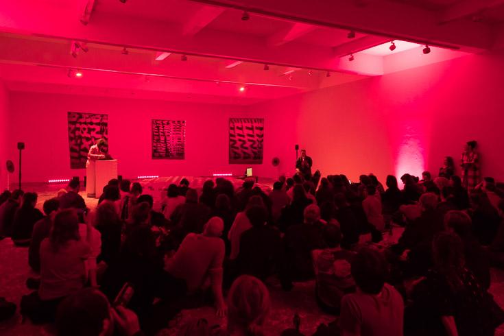 Hannah Black, Bonaventure (Soraya Lutangu) and Ebba Fransén Waldhör,Anxietina (The Situation) Documentation of performance Produced by Chisenhale Gallery, London. 2017. Photography Sam Nightingale ©